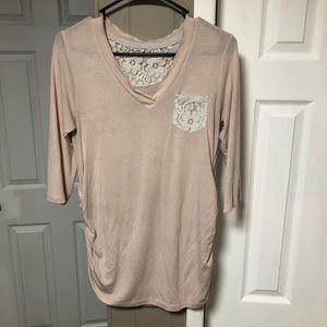 Blush Pink Maternity Shirt
